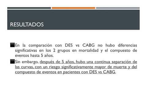 10 años de resultados de stent vs bypass a TCI. Dr. Gerardo Albarracín. Residencia de Cardiología. Hospital C. Argerich. Buenos Aires