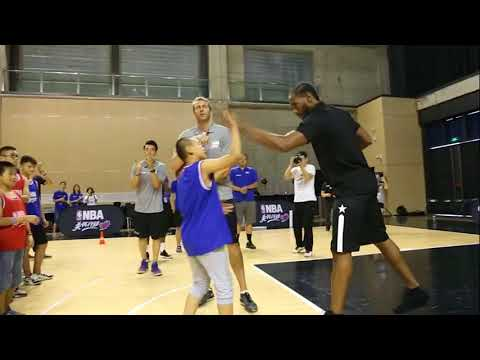 KAWHI LEONARD NBA CARES BASKETBALL CLINIC BEIJING