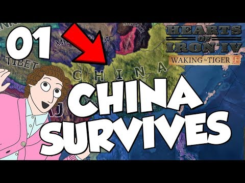 Hearts of Iron 4 HOI4 Waking The Tiger - China Survives Part 1 (видео)
