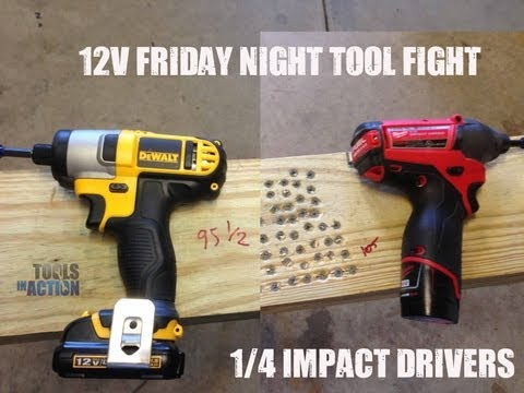 milwaukee - http://www.toolsinaction.com puts the DeWALT DCF815 head to head with the Milwaukee 2453 1/4