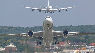 Video FARNBOROUGH Air Show 2018 warm up - AIRBUS A350 AIR SHOW with an AIRBUS A380 on Approach MP3, 3GP, MP4, WEBM, AVI, FLV November 2018