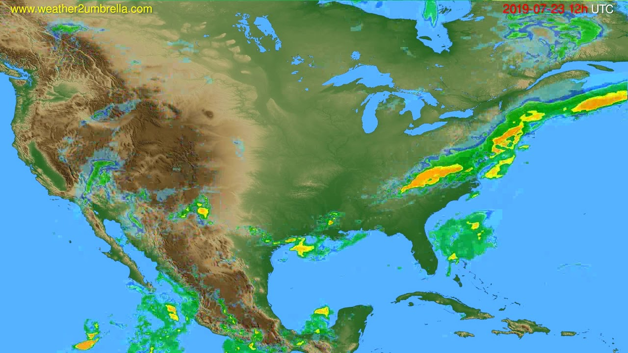 Radar forecast USA & Canada // modelrun: 00h UTC 2019-07-23