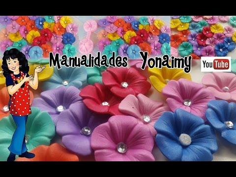 meravigliosi fiorellini realizzati in foamy