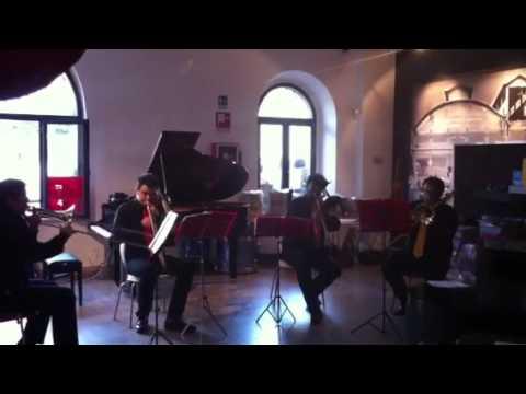 Max's school trombone quartet Tannhauser coro dei pellegrini