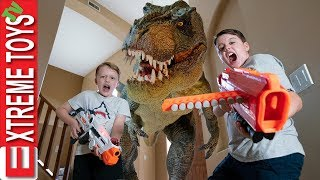 Video Dream Time in Dinosaur Land! Prehistoric Nerf Laser Tag Battle! MP3, 3GP, MP4, WEBM, AVI, FLV April 2019