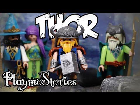 LE VOL DU MARTEAU DE THOR 🔨 (Légende Viking Playmobil Stop Motion)