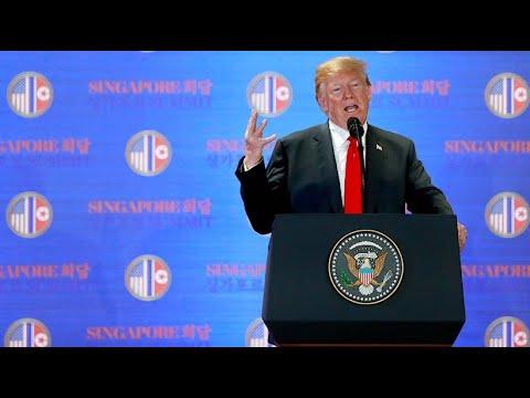 Singapur: Nach Treffen mit Kim - die Höhepunkte von Trumps Pressekonferenz