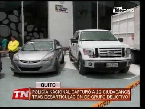 Policía nacional capturó a 12 ciudadanos tras desarticulación de grupo delictivo