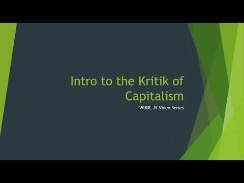 WUDL JV Video Series 108 Debating the Capitalism K