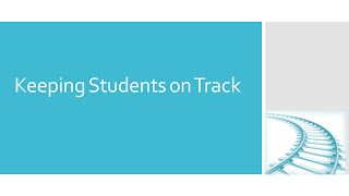Video on online course design - keeping students on track