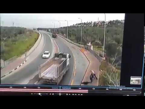 Теракт в Ариэле - видеосъемка