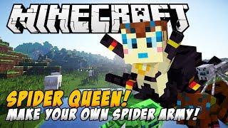 Minecraft Mods - SPIDER QUEEN REBORN MOD! (Create a Spider Army!) - Minecraft Mod Showcase