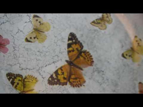 decoupage - decorazione su piatto con foil