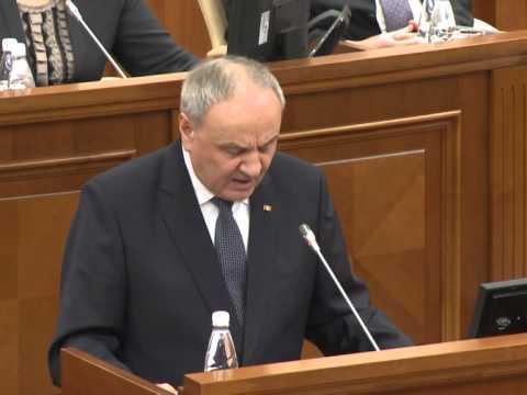 Президент Николае Тимофти произнес речь на открытии первого заседания весенне-летней сессии Парламента