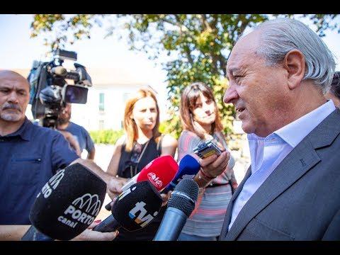 Rui Rio em declarações à imprensa sobre a taxa Robles