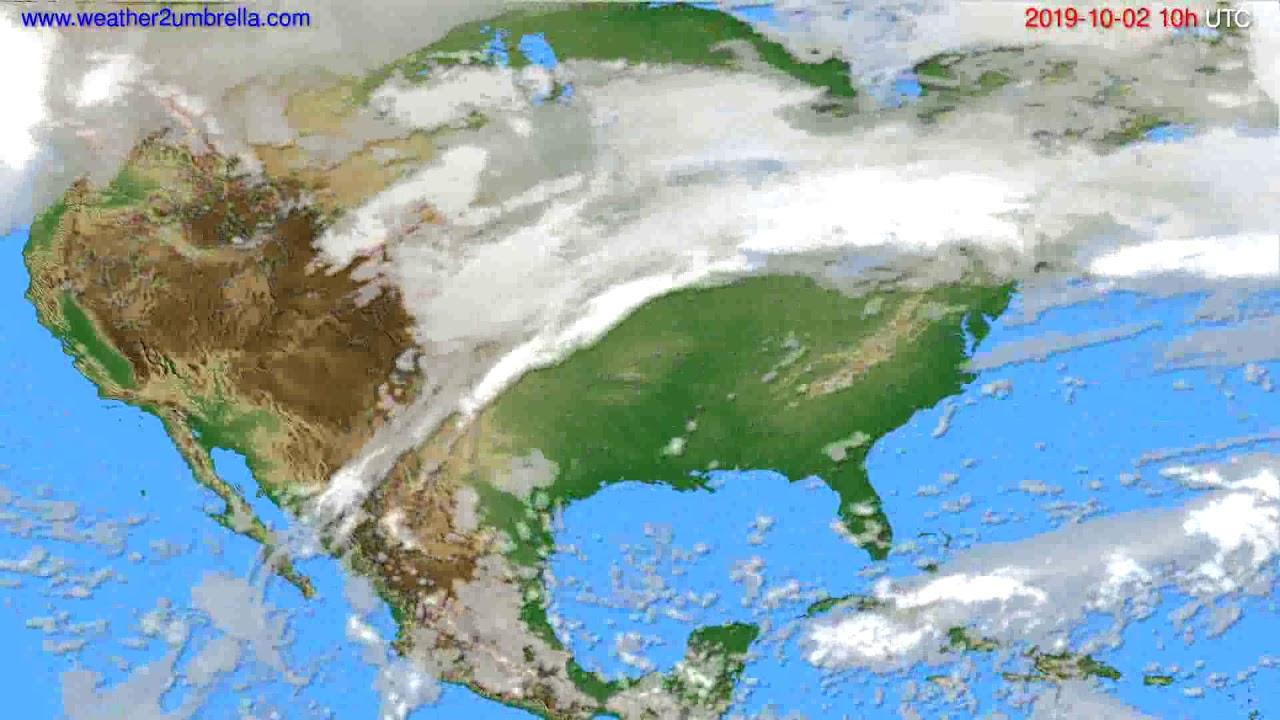 Cloud forecast USA & Canada // modelrun: 12h UTC 2019-09-29
