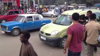 Ethiopian Soccer Fans Crazy On The Streets