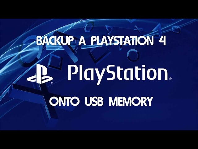 how to backup a ps4 to use on pro