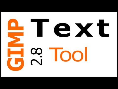 GIMP 2.8 tutorial – New Text Tool