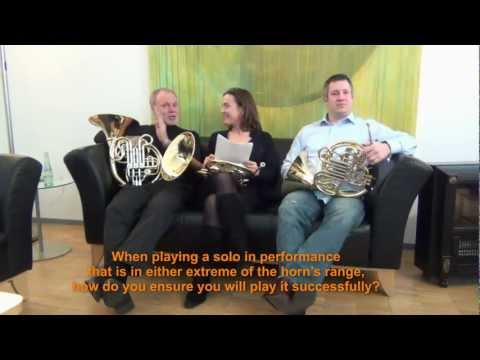 Stefan Dohr - Members of the Berlin Philharmonic Horn Section answer a Questionaire from a horn student.