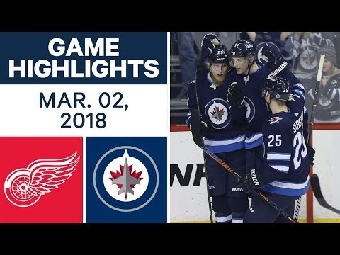 Video: NHL Game Highlights | Red Wings vs. Jets - Mar. 02, 2018