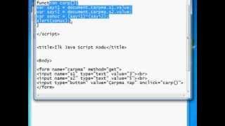 Java Scripte Giriş