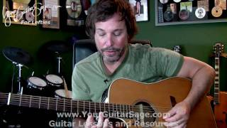 Harmonics - Lefty Beginner Acoustic Guitar Lesson
