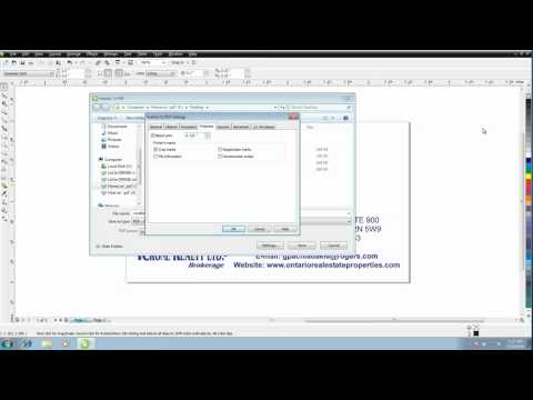 How To Save A Press Quality PDF Out Of Corel Draw