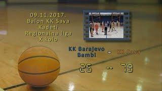 kk barajevo bambi kk sava2 26 79 (kadeti 2, 09 11 2017 ) košarkaški klub sava