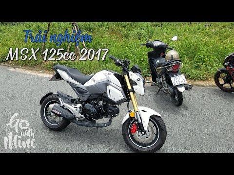 Trải nghiệm MSX 125 trắng ngọc trinh - 2017| MinC Motovlog