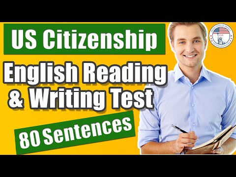 Us Citizenship Interview 80 Reading & Writing Sample Sentences V2