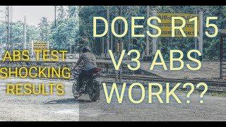 R15 V3 ABS TEST WORKING SURPRISED!!|ശെരിക്കും ഞെട്ടിച്ചു കളഞ്ഞു 😲😲