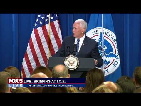 FOX 5 LIVE (7/6):  Pence with ICE employees; historical boat on fire in Detroit; wildfires in West