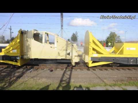 Crash test kabiny V300 Zefiro. Prędkość: 38 km/h. Żmigród.