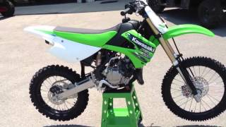 7. 2013 Kawasaki KX100 in Lime Green 2013 Monster Energy Kawasaki KX 100 at Tommy's Motorsports