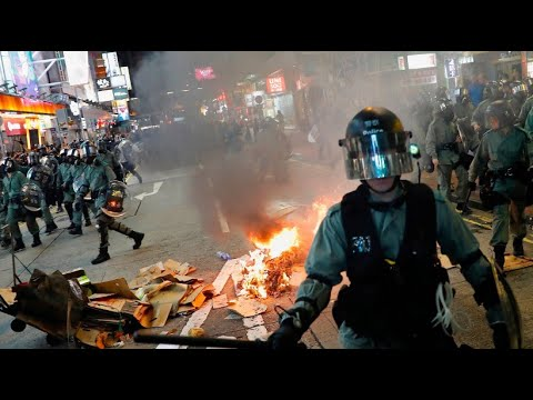 China: Proteste in Hongkong - Polizei mit Gummigescho ...