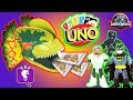 Jurassic World Uno With Black Panther And Batman Game Play By Hobbykidstv