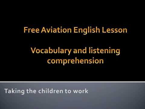 Aviation English lesson-air traffic control