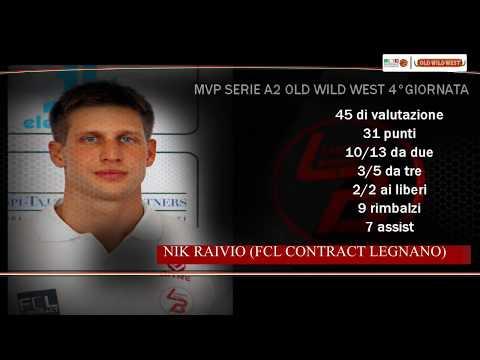 Serie A2 Old Wild West: MVP 4. giornata Nik Raivio