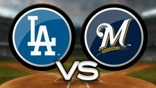 5/22/13: Dodgers' bats, Ryu pace 9-2 win vs. Brewers