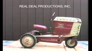 """Information on the Garton Pedal Tractor.  From our video on pedal tractors. It includes a visual descriptive study of each pedal tractor. Check out our facebook page """"Pedal Tractors"""" or our website www.arealdealproductions.com. We carry  a full line of pedal parts and pedal tractors."""