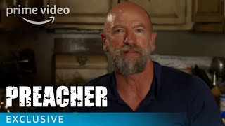 """Have you watched Preacher Season 2 Episode 2 yet? Take a behind the scenes look at the first episode with Sam Catlin, Graham McTavish and more.» SUBSCRIBE: http://bit.ly/AmazonPrimeVideoSubscribe» Watch Preacher on Amazon Prime Video: http://bit.ly/AmazonPrimeVideoPreacherAbout Preacher:Starring Dominic Cooper and based on the popular, cult comic book franchise, """"Preacher"""" is a supernatural, twisted and darkly comedic drama that follows a West Texas preacher named Jesse Custer, who is inhabited by a mysterious entity that causes him to develop a highly unusual power.Get More Amazon Prime Video: Watch More: http://bit.ly/WatchAmazonPrimeVideoNowFacebook: http://bit.ly/AmazonPrimeVideoFacebookTwitter: http://bit.ly/AmazonPrimeVideoTwitterInstagram: http://bit.ly/AmazonPrimeVideoInstagramTumblr: http://bit.ly/AmazonPrimeVideoTumblrAbout Amazon Prime Video:Want to watch it now? We've got it. This week's newest movies, last night's TV shows, classic favorites, and more are available to stream instantly, plus all your videos are stored in Your Video Library. Over 150,000 movies and TV episodes, including thousands for Amazon Prime members at no additional cost.Preacher Season 2 Episode 2 - Behind the Scenes  Amazon Prime Videohttps://youtu.be/M2P5XTC-UlUAmazon Prime Videohttps://www.youtube.com/c/amazonvideouk"""