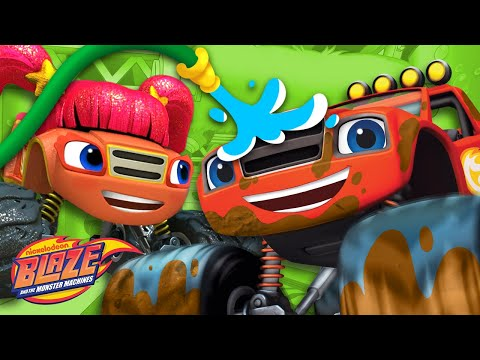 Car Wash Surprise #7 w/ Blaze's Family! | Blaze and the Monster Machines