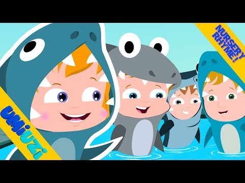 Video songs - Umi Uzi  Five Hungry Sharks  Halloween songs for kids  Cute Halloween videos  scary rhymes