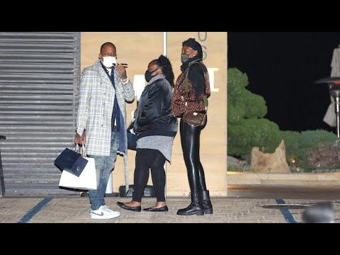 Venus Williams Displays Her Fit Frame While Dining With Kenya Barris