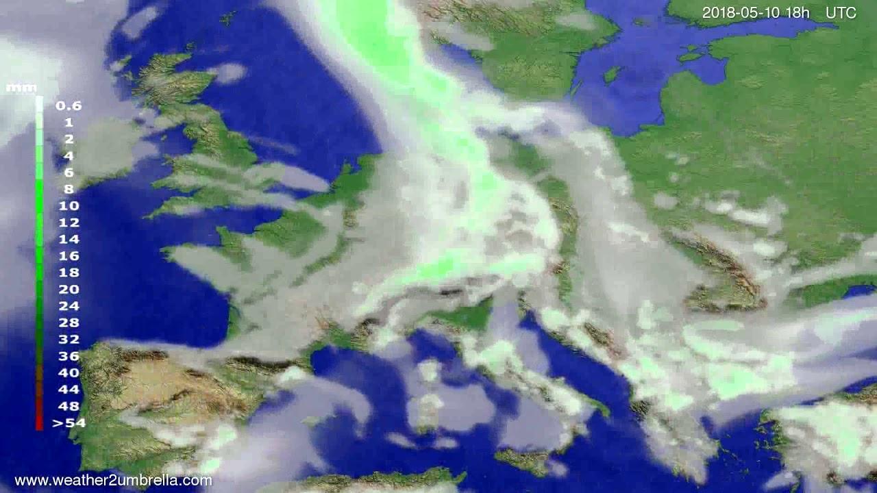 Precipitation forecast Europe 2018-05-07