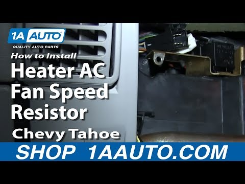 How To Install Replace Heater AC Fan Speed Resistor 1996-99 Chevy Tahoe