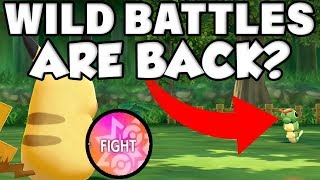 WILD POKEMON BATTLES COULD BE IN POKEMON LETS GO PIKACHU! by Verlisify