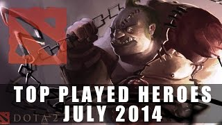 Top Played Dota 2 Heroes (July 2014) | Dota 2