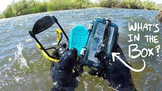 Video I Found a Sealed Waterproof Box Underwater in the River! (Returned to Owner - With Surprise!) MP3, 3GP, MP4, WEBM, AVI, FLV Maret 2019